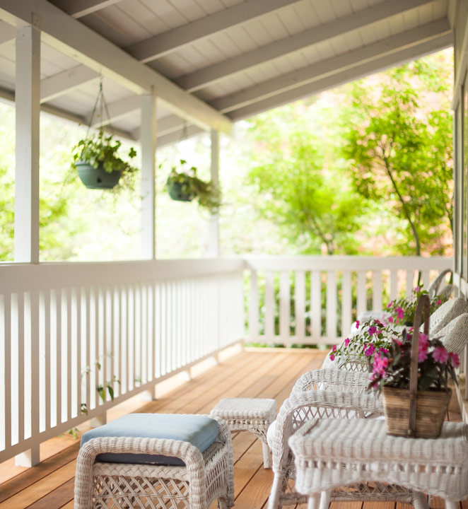 Redwood porch and deck