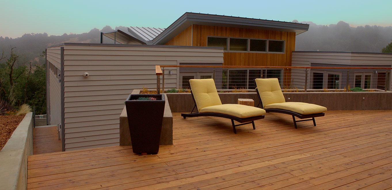 Modern Redwood Deck