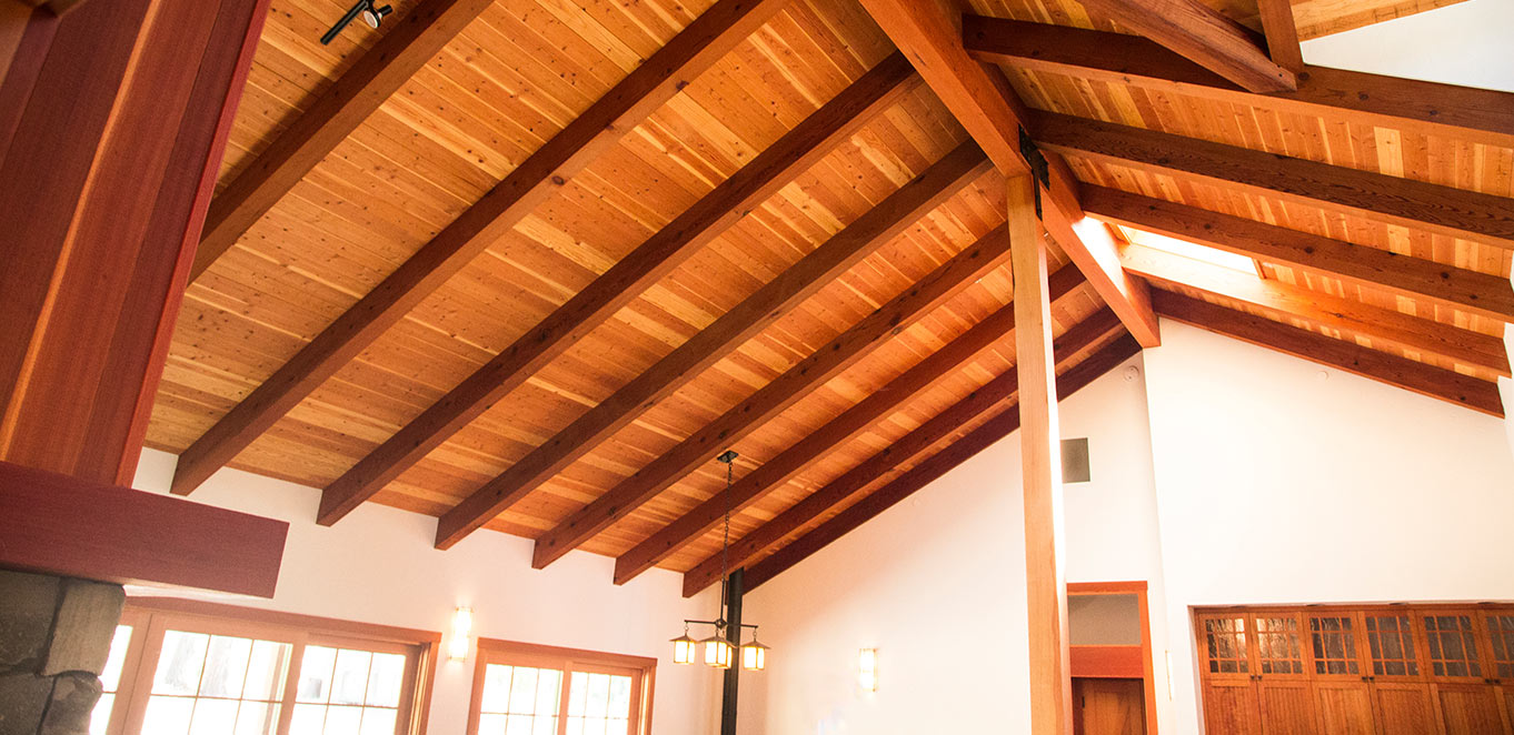 Redwood Ceiling Paneling
