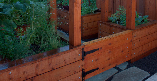 Redwood Garden Fence