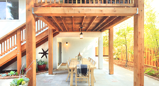Backyard Shade Structure & Dining Alcove in Santa Rosa, CA