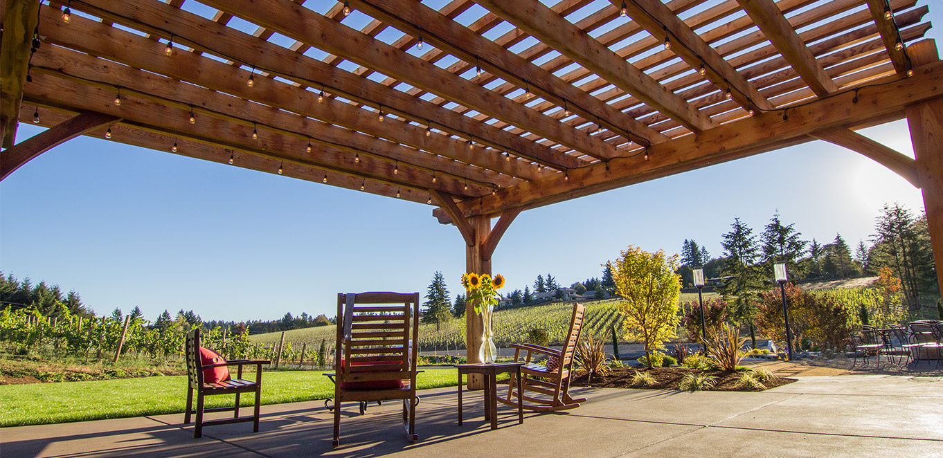 Humboldt Redwood Shade Structure in West Linn, Oregon