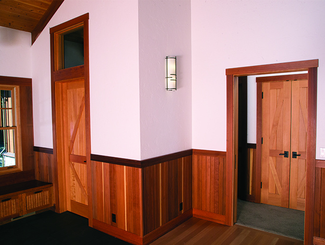 Redwood Wainscoting