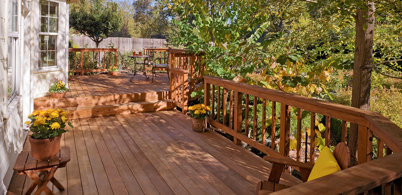Heart Clear Redwood Deck in Sebastopol, California